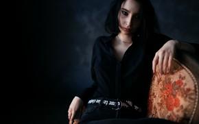 Picture makeup, piercing, sponge, Kustarev Maxim