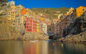 Picture rocks, home, Italy, Riomaggiore