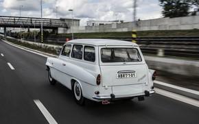 Picture road, white, Skoda, universal, Skoda, Octavia, Octavia Combi, 1960-1971