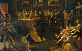 Picture oil, picture, 1630, Joos van Winghe, Ночной Банкет и Маскарад