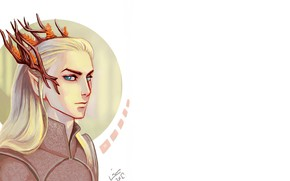 Picture elf, art, white background, Thranduil, thranduil, king of the elves, by linnpuzzle