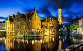 Picture lights, the evening, Belgium, Belgium, Bruges