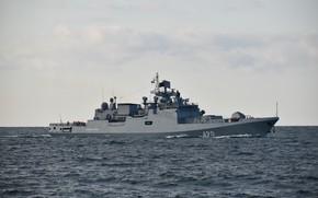 Picture frigate, Admiral Essen, patrol, author Erne