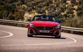Picture road, red, BMW, Roadster, BMW Z4, M40i, Z4, 2019, UK version, G29