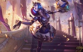 Picture girl, the game, art, League of Legends