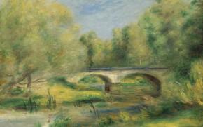 Picture bridge, picture, LANDSCAPE, 1905, Pierre Auguste Renoir, Pierre Auguste Renoir