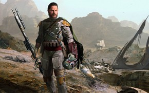 "Picture Tom Hardy, Boba Fett, the bounty hunter, Juan Hugo Martinez, adult fiction Saga ""Star wars"", …"