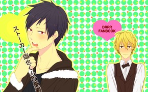 Picture guys, bright colors, Durarara, Durarara, Shizuo Heiwajima, Of Izaya Orihara