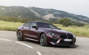 Picture coupe, turn, BMW, 2019, M8, the four-door, M8 Gran Coupe, M8 Competition Gran Coupe, F93