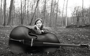 Picture music, cello, girl