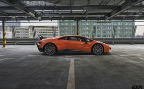 Picture Auto, Lamborghini, Machine, Orange, Supercar, Rendering, Sports car, Side view, Vehicles, Huracan, Lamborghini Huracan, Transport, …