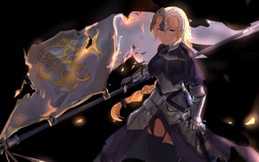 Picture girl, flag, Joan of arc, Fate / Grand Order, The destiny of a great campaign
