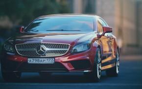 Picture Mercedes-Benz, Red, Auto, Machine, Mercedes, Red, Car, Render, Rendering, Rendering, Transport & Vehicles, Mercedes-Benz CLA …
