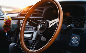 Picture the wheel, salon, torpedo, dashboard, освежитель