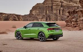 Picture Audi, desert, crossover, 2020, RS Q8