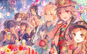 Picture holiday, salute, characters, festival, Fate / Grand Order, The destiny of a great campaign