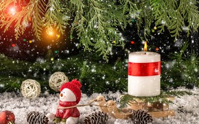 Picture snow, decoration, toys, New Year, Christmas, snowman, christmas, wood, winter, snow, merry, snowman, decoration, fir …