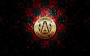 Picture wallpaper, sport, logo, football, glitter, checkered, MLS, Atlanta United