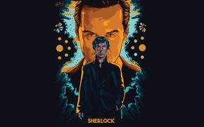 Picture art, Sherlock Holmes, Benedict Cumberbatch, Sherlock, Sherlock BBC, Sherlock Holmes, Sherlock (TV series)