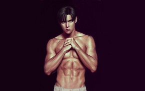 Picture background, guy, handsome, naked torso, Attack Of The Titans, Shingeki No Kyojin, Levi Ackerman, Levi, …