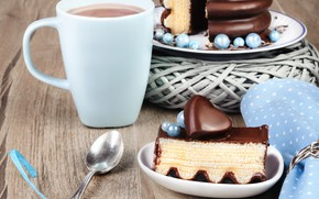Picture coffee, Cup, cake, cakes, schokolad