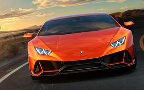 Picture Lamborghini, supercar, front view, Evo, Huracan, 2019, Lamborghini Huracan Evo