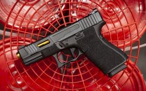 Picture macro, gun, background