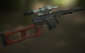 Picture rendering, weapons, gun, weapon, Vintorez, render, Assault rifle, VSS Vintorez, Sniper Rifle, Sniper rifle, Special …