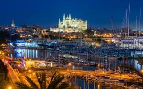 Picture night, yachts, Palma, Spain, Mallorca