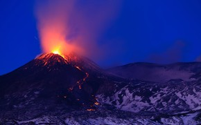 Picture the volcano, the eruption, Italy, lava, Italy, Etna, Etna, Sicily, Sicily, январь 2021