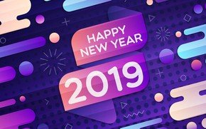Picture background, New year, 2019