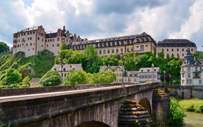 Picture bridge, home, Germany, Germany, Palace, Weilburg Castle, Walborsky Palace, Because castle, Weilburg