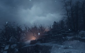 Picture snow, night, a plague tale: innocence