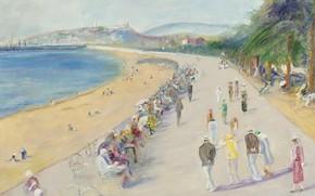 Picture picture, the urban landscape, Lucien Adrion, Lucien Adrion, The Croisette. Cannes