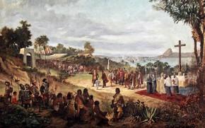 Picture picture, painting, painting, Antonio Firmino, The Founding of Rio de Janeiro, Антонио Фирмино, Основание Рио-де-Жанейро
