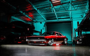 Picture Muscle, Dodge, Red, Charger, RTR, Custom, Garage, Modified