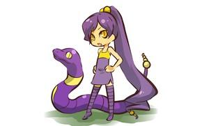 Picture snake, girl, girl, snake, cosplay, pokemon, pokemon, Ekans, humanitaria, Ekans