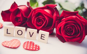 Picture love, heart, roses, red, red, love, heart, flowers, romantic, roses