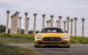 Picture lights, Mercedes-Benz, front view, AMG, GT R, 2020