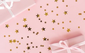 Picture birthday, gifts, Star, stars, gold, Gift, Happy birthday