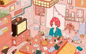 Picture Japan, Room, Girl, Anime