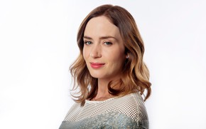 Picture look, girl, pose, actress, Emily Blunt, Emily Blunt, hair