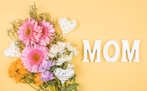 Picture flowers, bouquet, holidays, Mother's Day