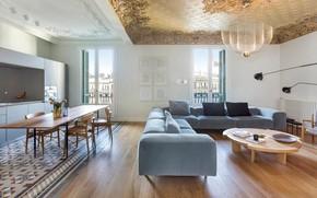 Picture interior, kitchen, living room, dining room, by Estudio Vilablanch, Casa Burés