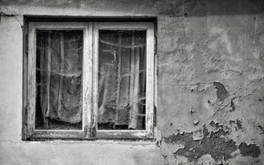 Picture house, wall, window, naturalism