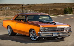 Picture Muscle, Coupe, Chevy, Chevelle, Vehicle