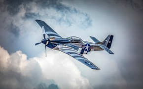 Picture the sky, fighter, The second world war, North American P-51 Mustang