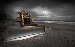 Picture tractor, England, Shifting Sands, Boscombe