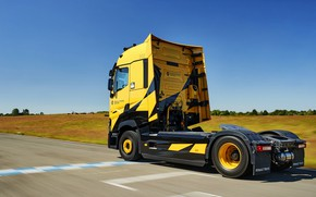 Picture asphalt, movement, truck, Renault, 2018, tractor, T520, Renault Trucks, T-series, Renault Sport Racing, High Cab, …