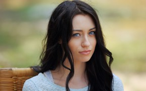 Picture look, hair, jacket, Zsanett Tormay, blue eyes